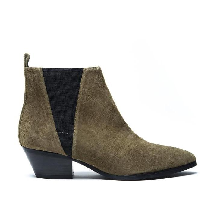 Rocio Bootie - Khaki Suede is one of Barcemoda's most comfortable ladies suede booties.