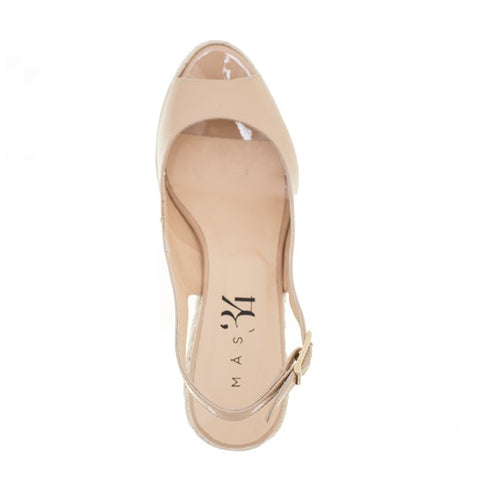 Isabel Wedge - Nude Patent Leather