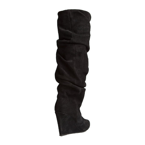 Cherry Boot - Black Suede