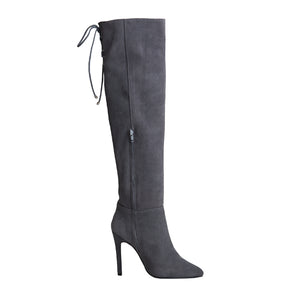 Marissa Boot - Grey Suede is one of Barcemoda's most popular ladies suede boots.