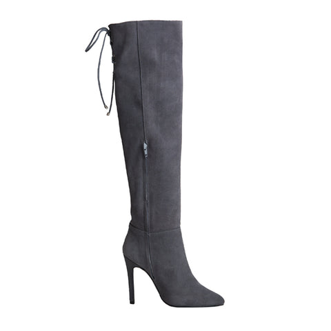 Marissa Boot - Grey Suede