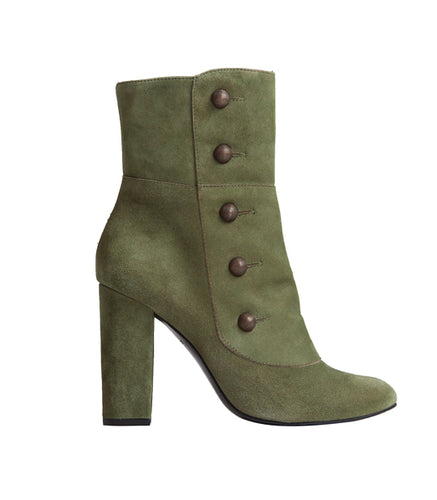 Gigi Bootie - Khaki Suede is one of Barcemoda's best ladies suede booties.