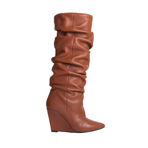 Cherry Boot - Brown Leather