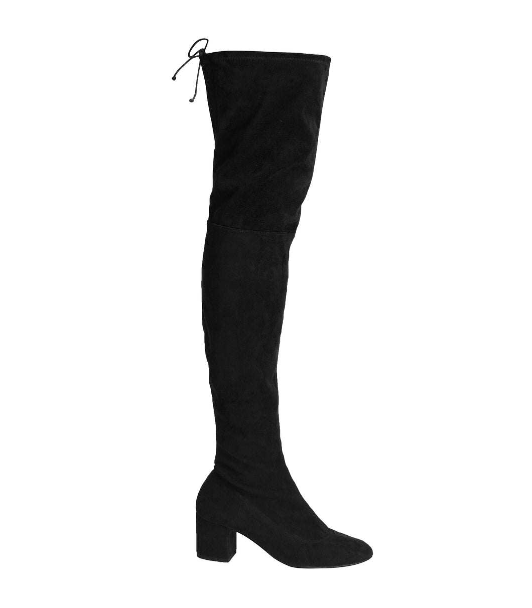 Macarena Boot - Black Suede is one of Barcemoda's best ladies black suede boots.
