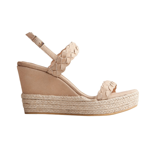 Silvia Wedge - Mink Suede is one of Barcemoda's most elegant ladies wedge heels.