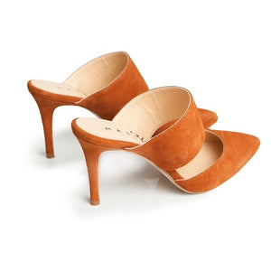 Alba Stiletto - Brown Suede
