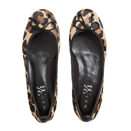JB BALLERINA LEOPARD COWHIDE PONY HAIR EFFECT AND BLACK