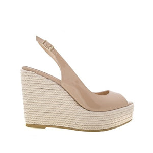 Isabel Wedge - Nude Patent Leather is one of Barcemoda's most timeless ladies wedge heels.