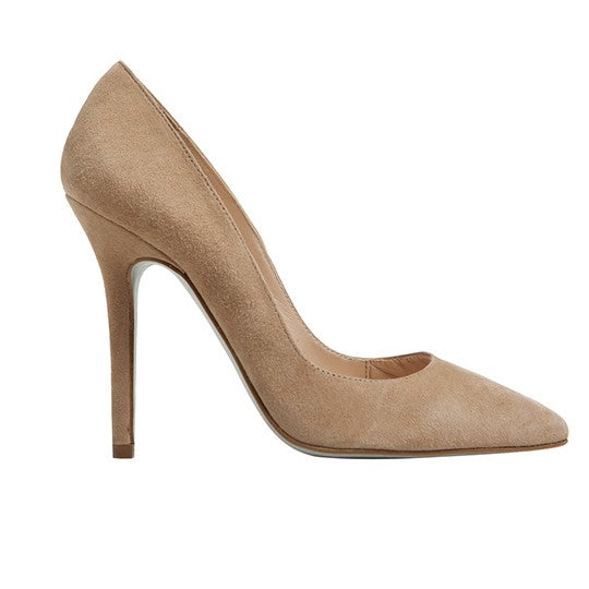 Berta Stiletto - Mink Suede is one of Barcemoda's best ladies stiletto heels.