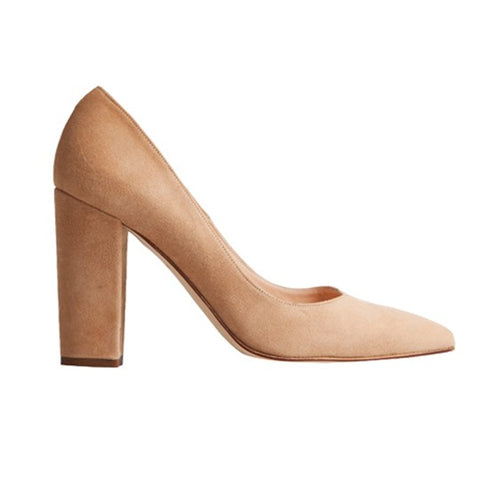 Catalina Stiletto - Mink Suede