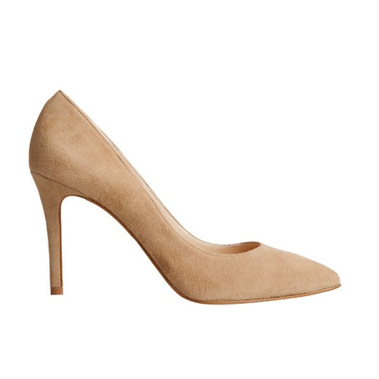 Vega Stiletto - Mink Suede is one of Barcemoda's most popular ladies stiletto heels.