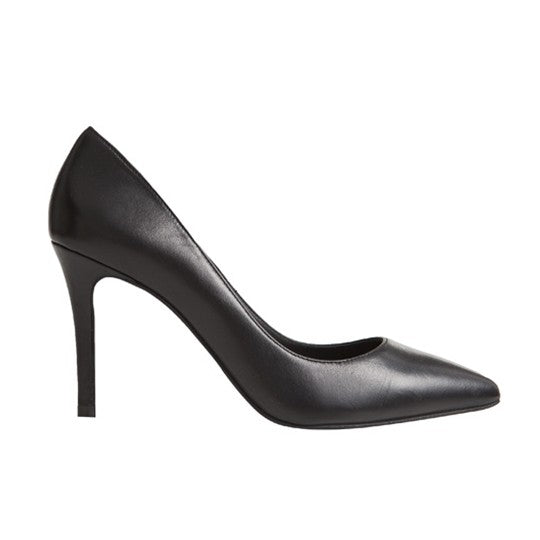 Vega Stiletto - Black Leather is one of Barcemoda's classic ladies stiletto heels.