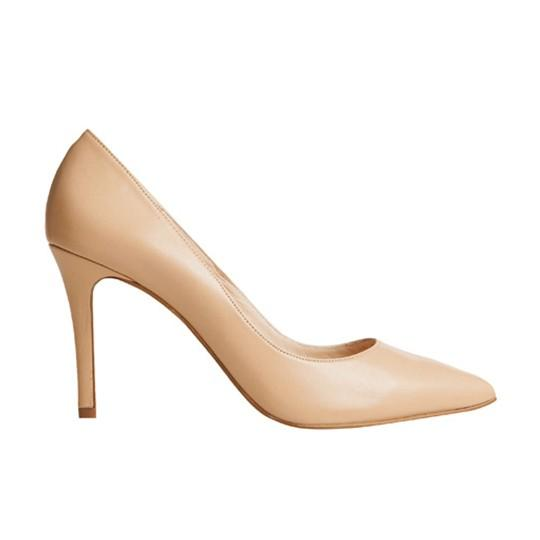 Vega Stiletto - Nude Leather is one of Barcemoda's classic ladies stiletto heels.