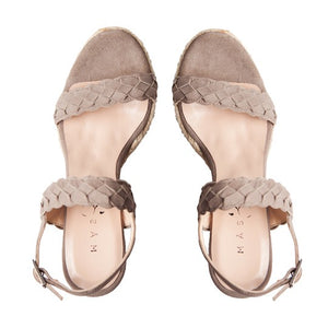 Silvia Wedge - Light Brown Suede