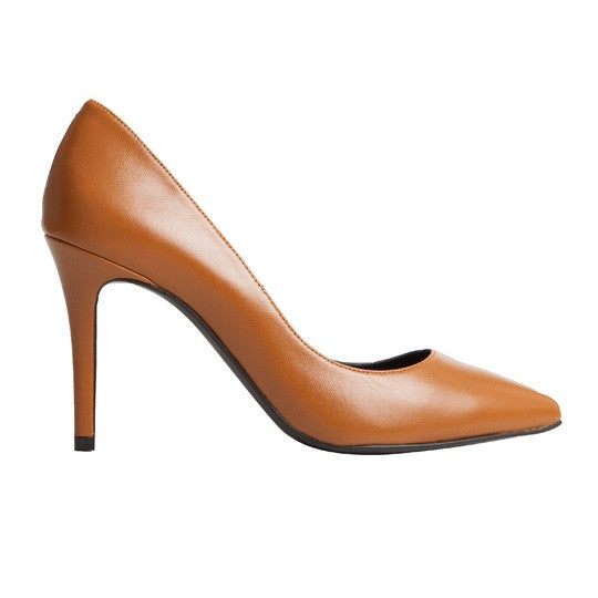 Vega Stiletto - Brown Leather is one of Barcemoda's classic ladies stiletto heels.