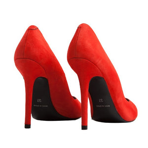 Berta Stiletto - Red Suede
