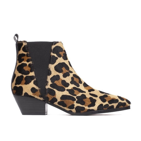 Rocio Bootie - Leopard Cowhide - PRE-ORDER: This product will ship in ten days