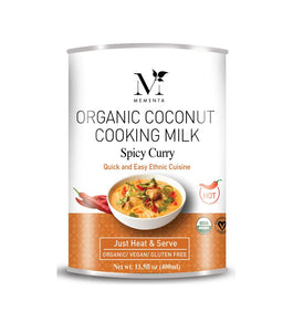 Organic Coconut Cooking Milk, Spicy Curry
