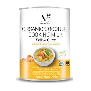 Organic Coconut Cooking Milk, Yellow Curry