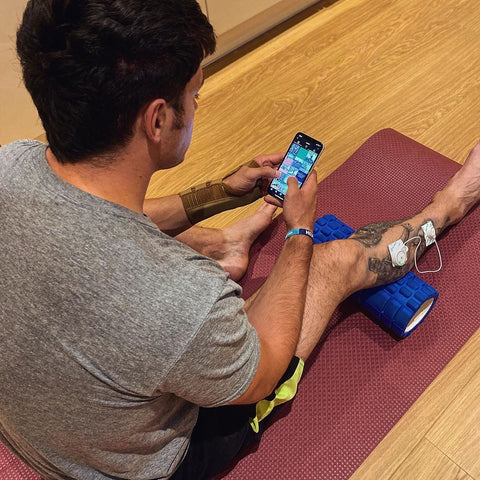 Olly Butterworth using NuroKor while training
