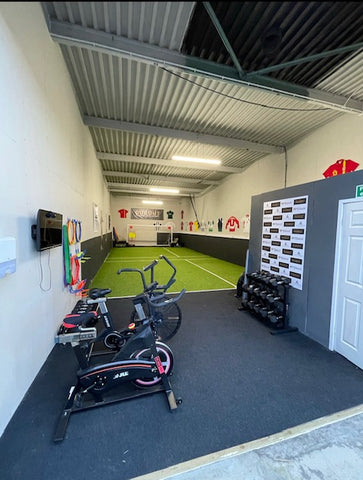 Jake Turnbull's new space with it's 3G flooring