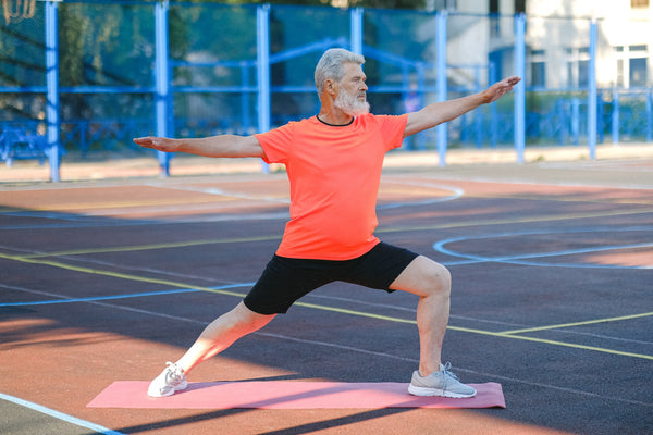 Fall prevention classes are a mixture of isometric holds and slow controlled movements