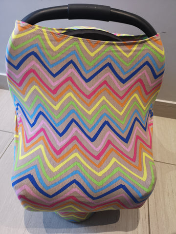 Car Seat / nursing cover rainbow