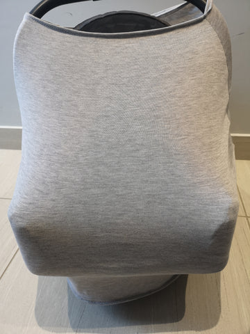 Car Seat / nursing cover grey