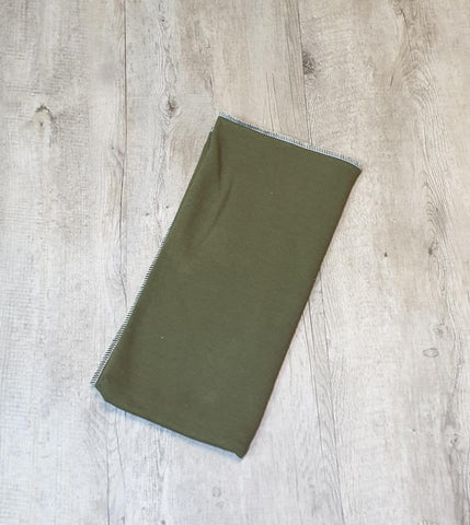 Cotton fleece flat 70x70cm Olive green