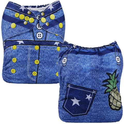 Position Print Pocket Nappy P118