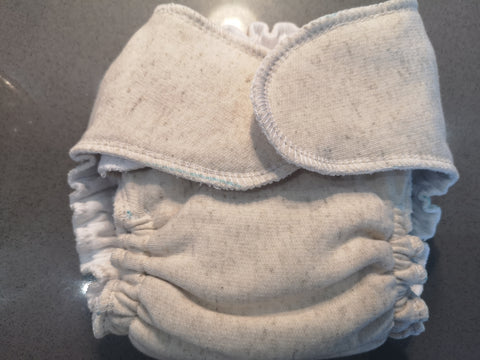 Cotton fleece Fitted nappy -snapless- medium wetter- OSFM