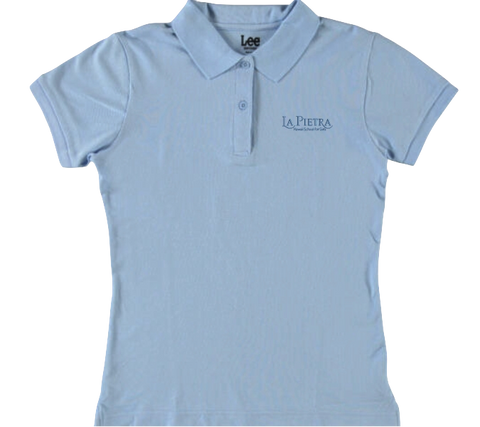Girls Short Sleeve Stretch Pique Polo