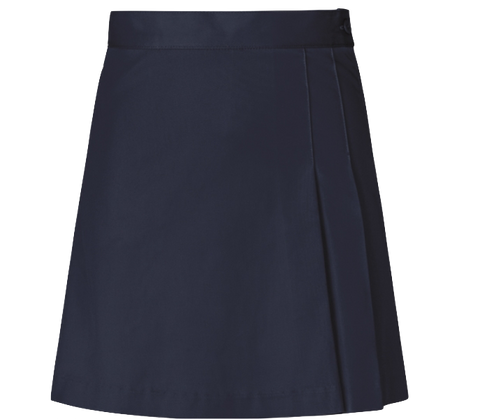 Stretch Double Pleated Skirt