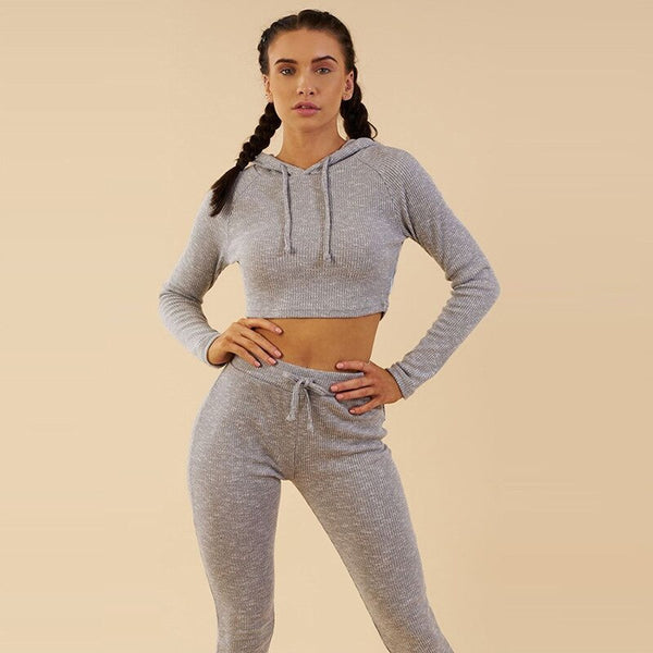 Sports Yoga Suits Pullover+Pants Sexy Running Set Female Breathable Gym Jogging Sport Set Quick Dry Girls Suits Set For Autumn - MEEDIL