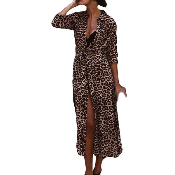 Long leopard dress - MEEDIL