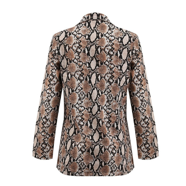 Jacket Snake Print Long Sleeve Model Livourne - MEEDIL