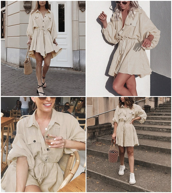 Linen shirt dress - MEEDIL