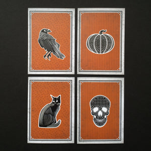 Halloween Icons Greeting Card Set