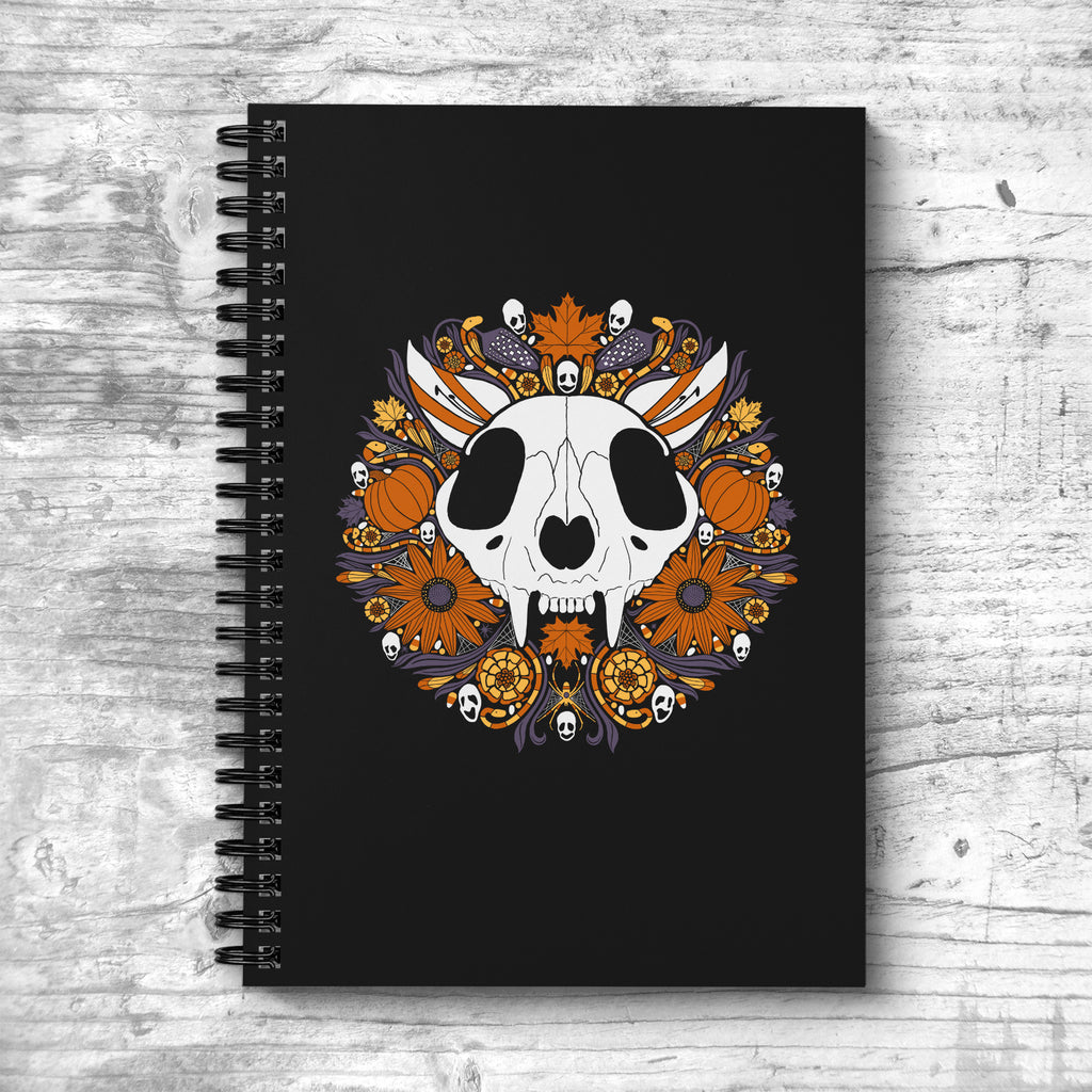 Halloween Cat Spiral Notebook