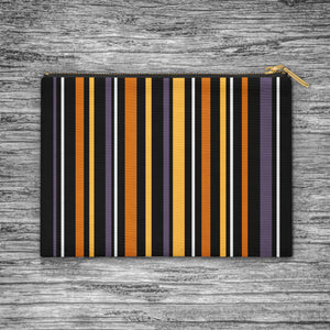 Halloween Stripes Zip Bag