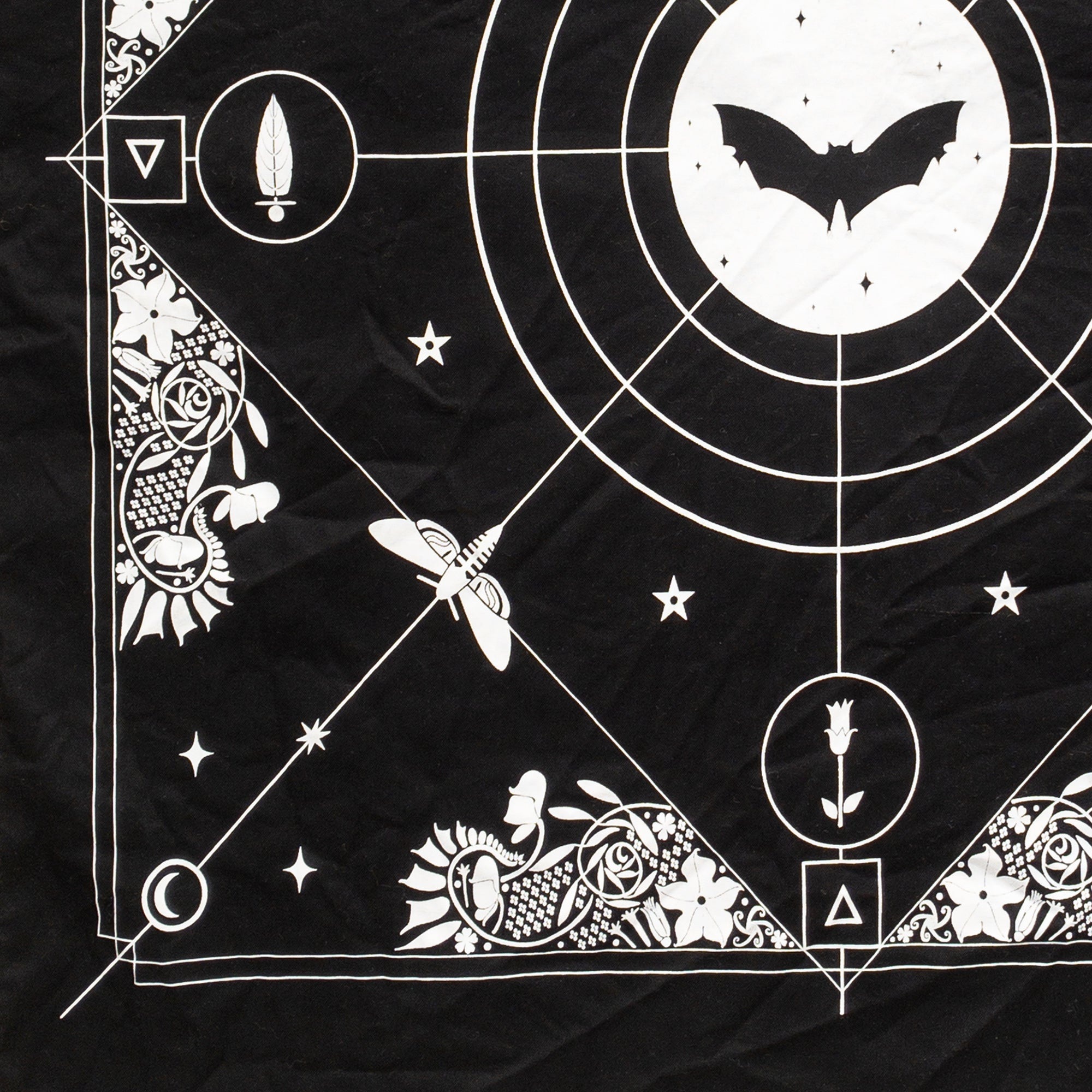 Night Garden Tarot Cloth and Sticker Set