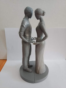 Wedding Cake Topper Figurines with Blank Faces