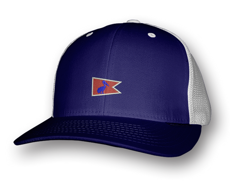 Navy Pelican Pennant Snap-Back