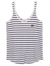 Load image into Gallery viewer, Lady's Dockside Tank Riviera Stripe