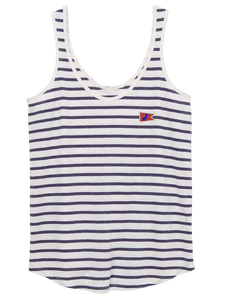 Lady's Dockside Tank Riviera Stripe