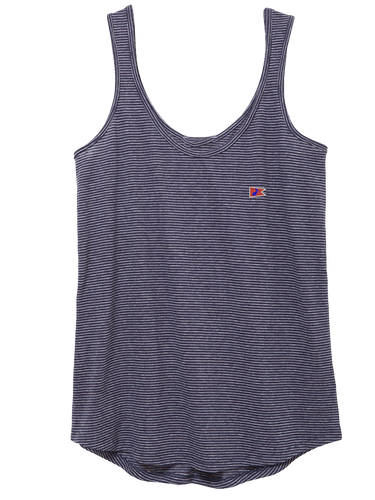 Lady's Dockside Tank Midnight Seaside Stripe