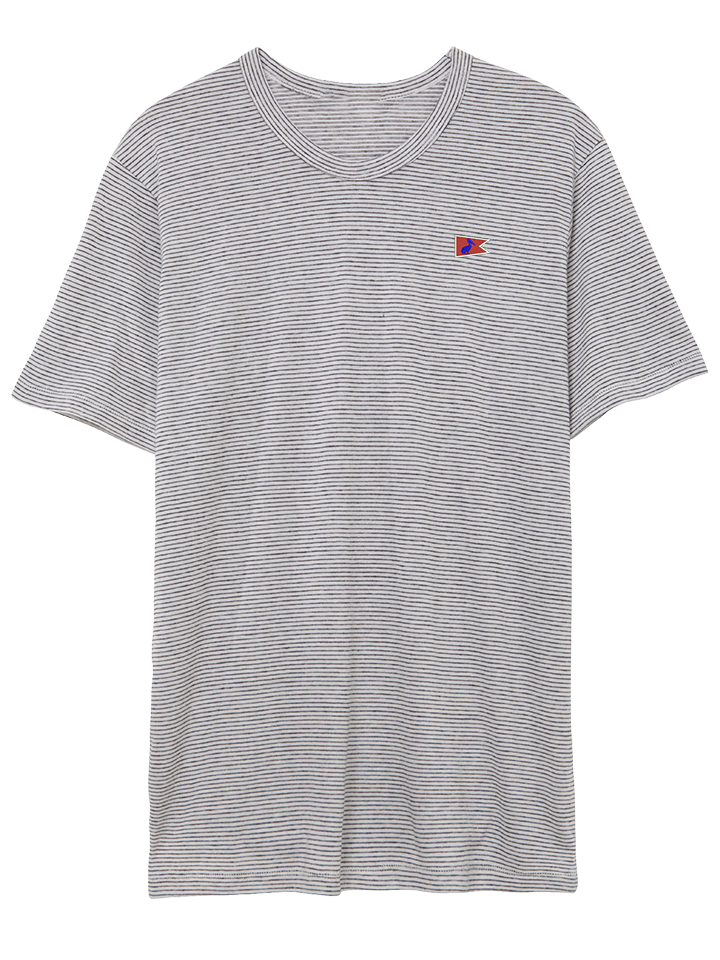 Men's Dockside T Oatmeal Stripe