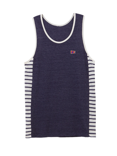 Men's Dockside Tank Riviera Side Stripe