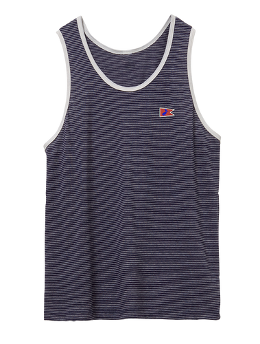 Men's Dockside Tank Midnight Seaside Stripe