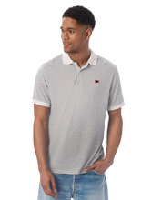 Load image into Gallery viewer, Men's Dockside Polo Oatmeal Stripe